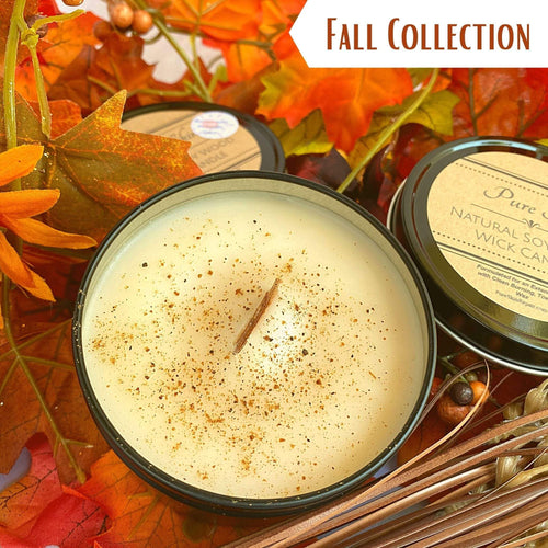 Pure Skin Pumpkin Buttercream Spice Soy Wood Wick Candle Tin