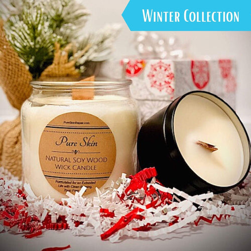Pure Skin Winter Collection: Winter Collection Soy Wood Wick Candle