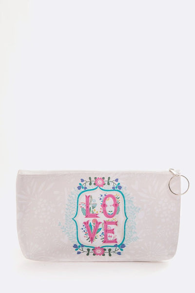 Printed Designed Summer Makeup Pouch