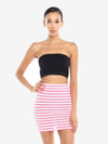 Striped Mini Bodycon Skirt