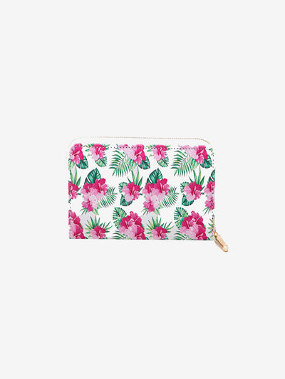 Floral & Leaf Print Fashion Wallet