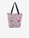 Flamingo Stripe Fashion Tote Bag