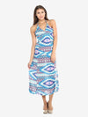 Bohemian Stretch Knit Halter Dress