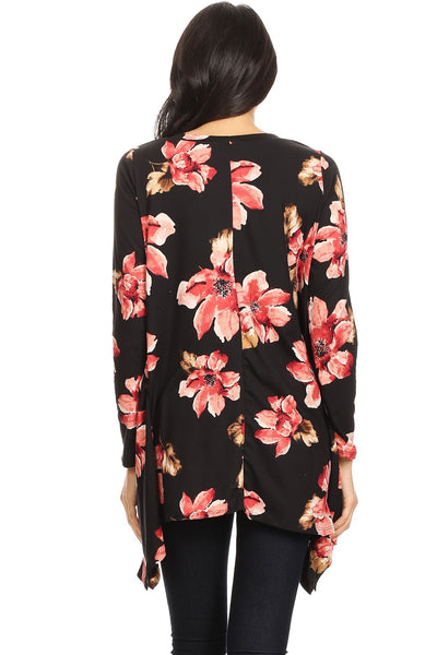 Women's Long Sleeve Floral Print Casual Top, floral print tops blouses, womens floral shirt, womens floral tops, womens floral blouse, Women's Long Sleeve Floral Print Casual Top, large sleeve blouse, floral print tops blouses, floral tops for juniors, black floral print blouse, black floral print blouse,long sleeve winter shirts womens, cute long sleeve shirts, womens flare tops, womens flare tops, womens flare tops, shop womens flare tops, shop fall shirts, fall shirts near me,