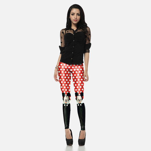 Cute Minnie Mouse Printed Leggings