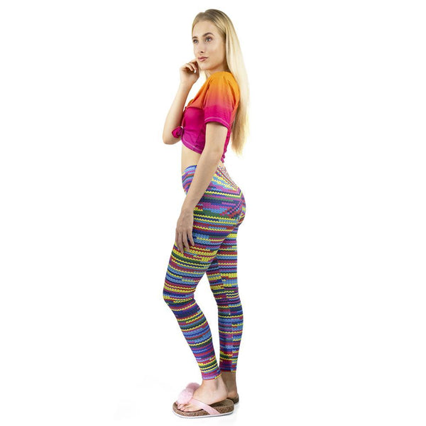 Knit Printed Paddy Workout Legging