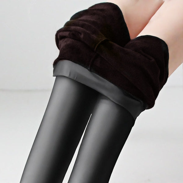 Velvet Leather Legging for Women