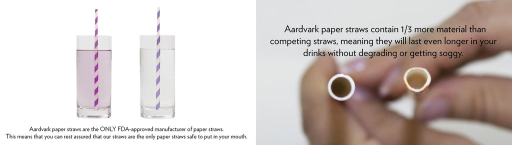Made in USA Aardvark Paper Straws