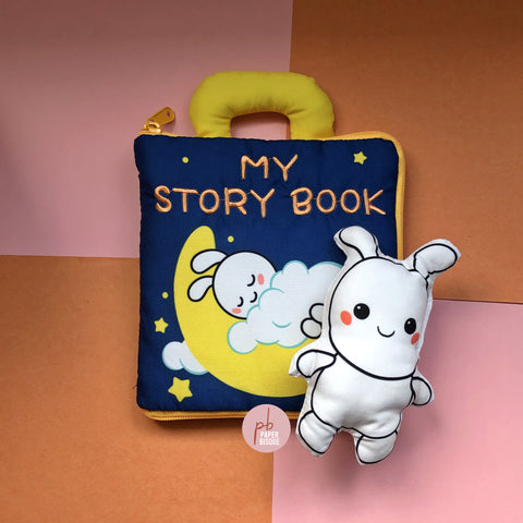 My Story Book Good Night Rabbit 3D Baby Cloth Book