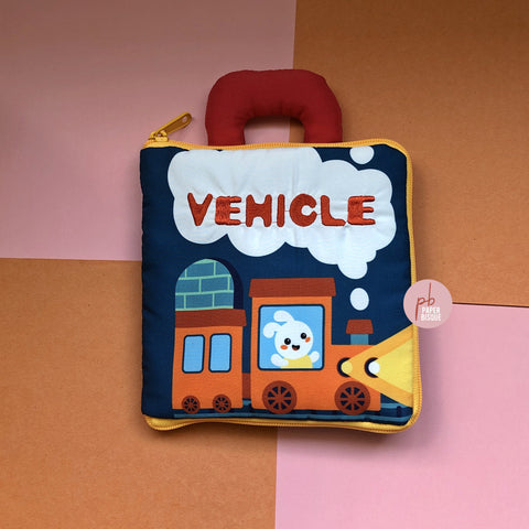 Vehicle 3D Baby Cloth Book