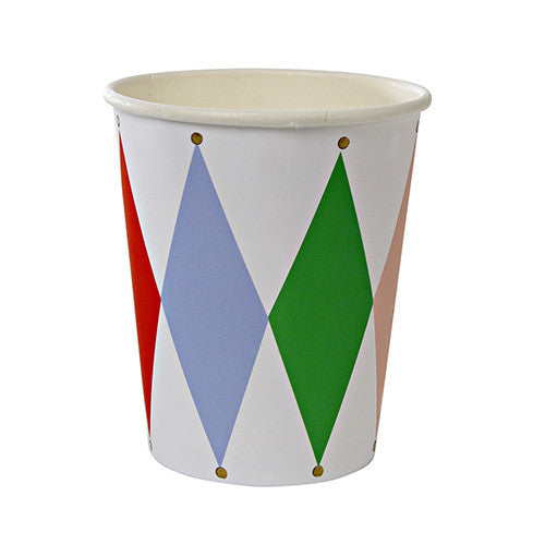 Toot Sweet Harlequin Pattern Party Cups