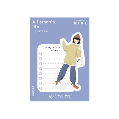 A Person's Life Bag Sticky Notes