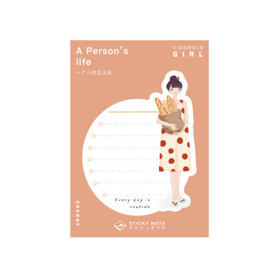 A Person's Life Bread Sticky Notes