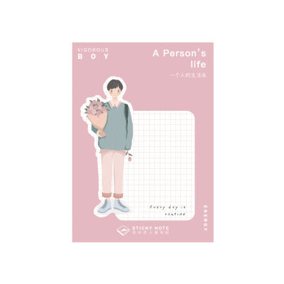 A Person's Life Flowers Sticky Notes