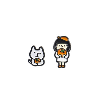 Aba Girl Orange Cat Pin By U-Pick