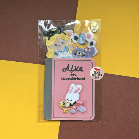 Alice In Wonderland Plush Embroidered Sticker & Iron-On Patch