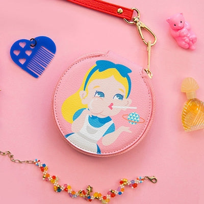 Princess Alice Pink Round Coin Pouch By Bentoy