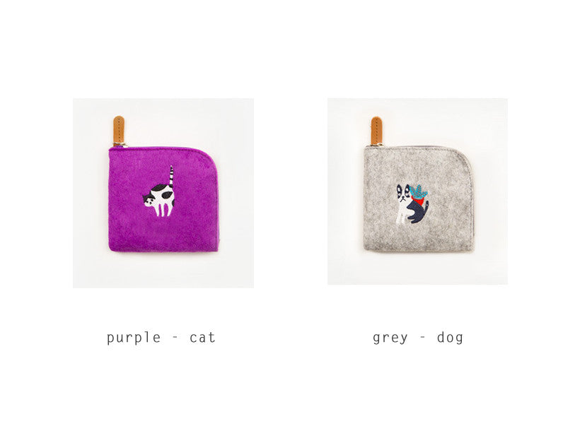 Embroidery Animal Coin Pouch