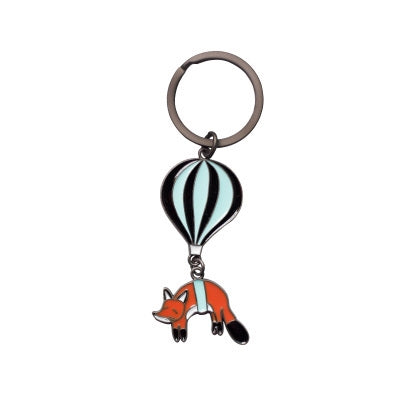 Animal Hot Air Balloon [Fox] Key Chain By 八涂 BaTu