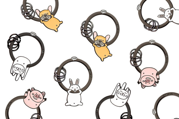 Hanging On Animal [White Rabbit] Key Chain By BMCS Life
