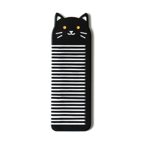 Small Pocket [Black Cat] Animal Comb By U-Pick