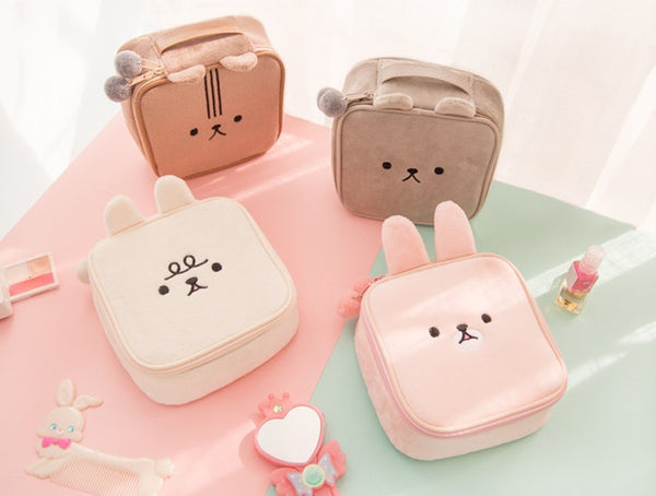 Animal [Pink] Square Pouch By Bentoy