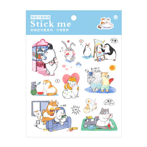 Happy Friends Stick Me Stickers