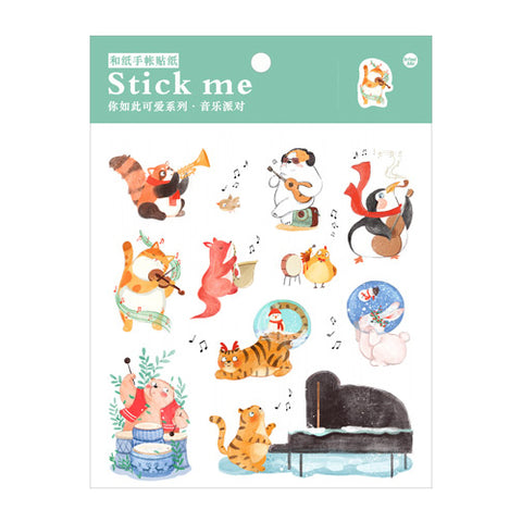 Music Concert Stick Me Stickers