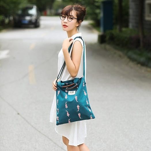 Whimsical [Koi Fish] Tote Bag By 八涂 BaTu