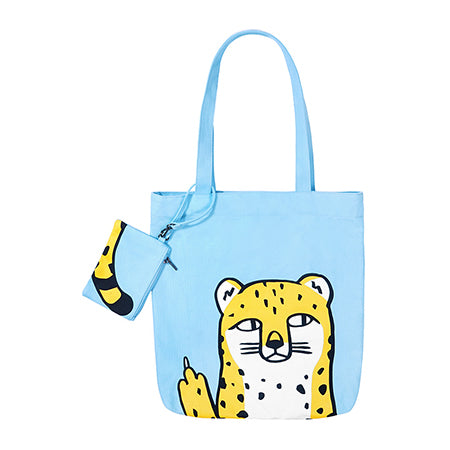 Swag Animal Leopard Tote Bag By 小野 Xaoye