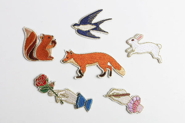 Whimsical Animal Embroidered Sticker Patch