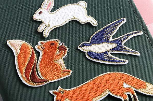 Whimsical Animal [Squirrel] Embroidered Sticker Patch