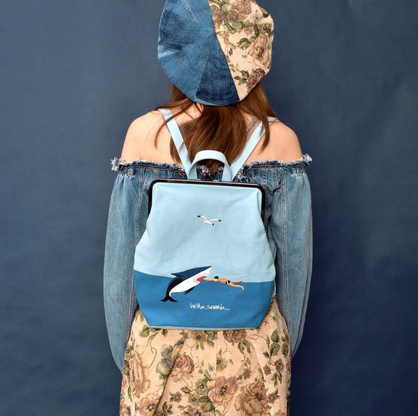 Shark Ball Clasp Pattern Backpack By YIZI