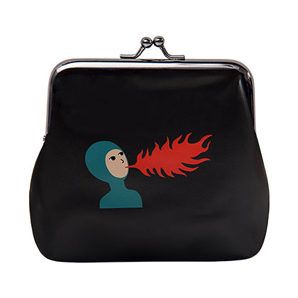 Ball Clasp Fire Girl Coin Purse By YIZI STORE