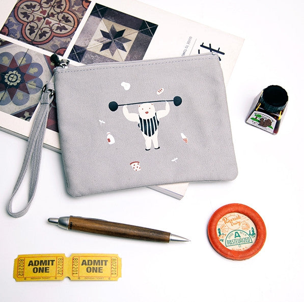 Small Storage Bear Grey Pouch By YIZI STORE X KOMESHOP