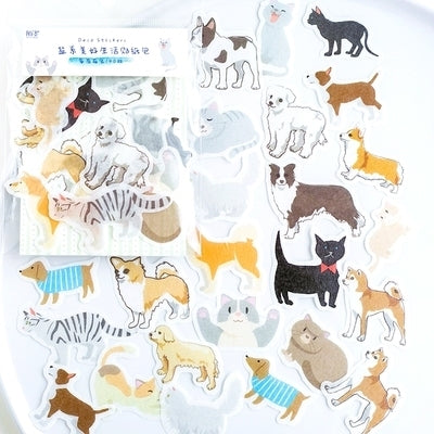 Beautiful Life Cats Dogs Deco Stickers Pack