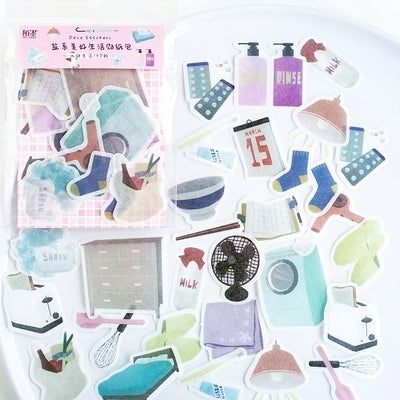 Beautiful Life Household Appliances Deco Stickers Pack