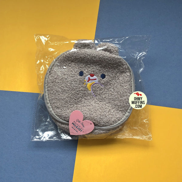 Bobo [Grey Mouse] Round Cosmetic Pouch By Milkjoy