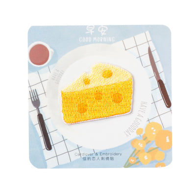 Breakfast [Cheese] Embroidered Sticker Iron-On Patch