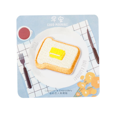 Breakfast [Toast] Embroidered Sticker Patch