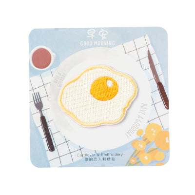 Breakfast [Fried Egg] Embroidered Sticker Patch