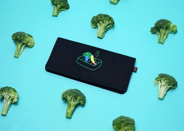 Broccoli Canvas Long Wallet By 小野 (Xao Ye)