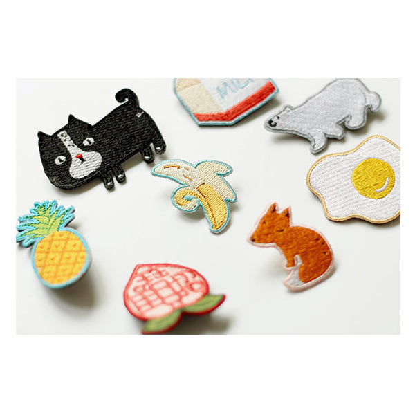 Embroidery [Milk] Brooch By U-Pick