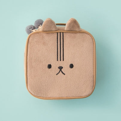 Animal Brown Square Pouch By Bentoy