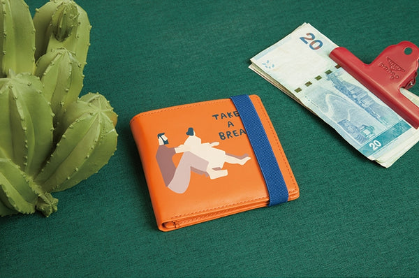 Busy Life Short Wallet By YIZI STORE