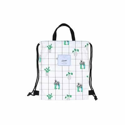 Cactus Plants Drawstring Backpack By Colourup