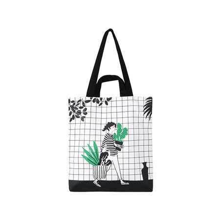 Cactus [Girl] Tote Bag By Colourup