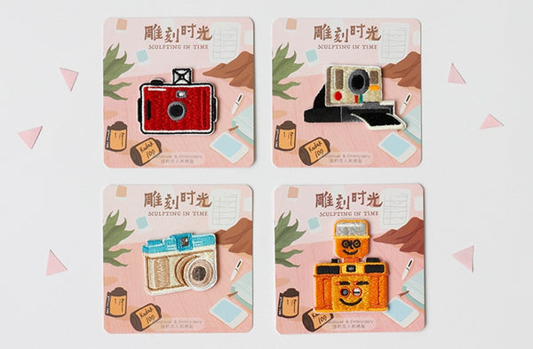 Vintage Camera Embroidered Sticker Iron-On Patch