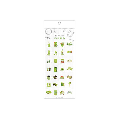 Matcha Green Tea Stickers