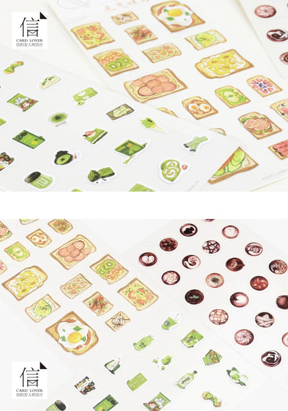 Latte Art Stickers